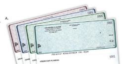 Checks and Forms, Plastic Card